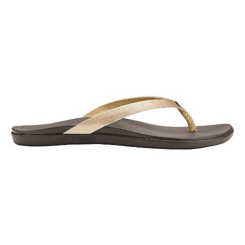 Womens OluKai Ho'opio Leather Sandals Shoe - Bubbly/Dark Java 10