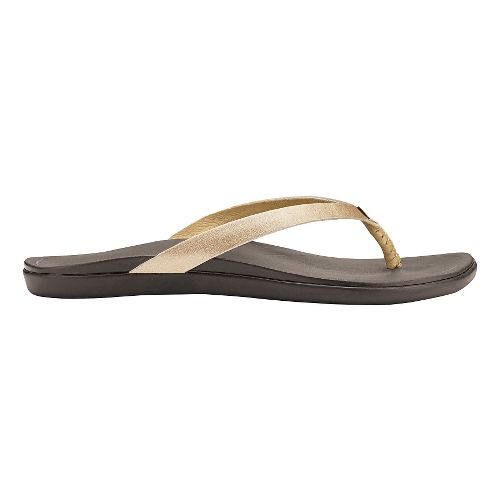 Womens OluKai Ho'opio Leather Sandals Shoe - Bubbly/Dark Java 9