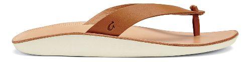Womens OluKai Loea Sandals Shoe - Mustard/Bone 9