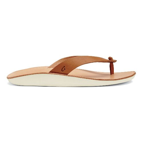 Womens OluKai Loea Sandals Shoe - Mustard/Bone 10
