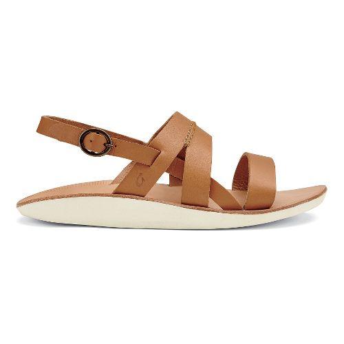 Womens OluKai Loea Sandal Sandals Shoe - Mustard/Bone 11