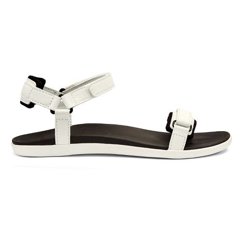 Womens OluKai Luana Sandals Shoe - White/Black 5