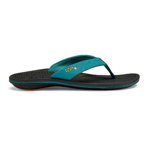 Womens OluKai Kia'I Wahine Sandals Shoe - Teal/Black 6
