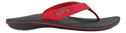 Womens OluKai Kia'I Wahine Sandals Shoe - Ohia Red/Black 10