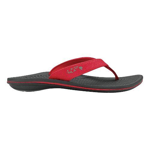 Womens OluKai Kia'I Wahine Sandals Shoe - Ohia Red/Black 9