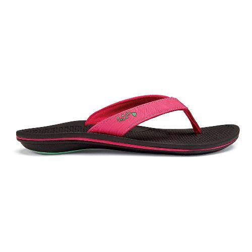 Womens OluKai Kia'I Wahine Sandals Shoe - Fuchsia/Black 10