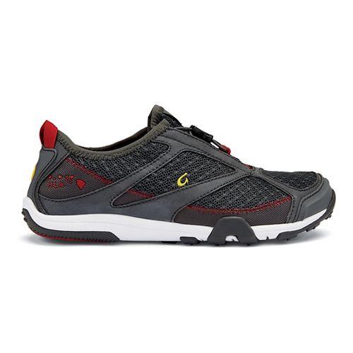 Womens OluKai 'Eleu Trainer Running Shoe - Dark Shadow/Red 9