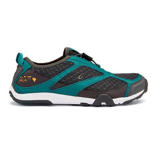 Womens OluKai 'Eleu Trainer Running Shoe - Dark Shadow/Teal 6.5