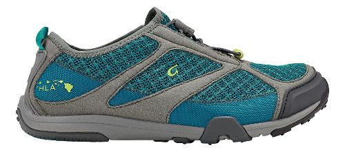 Womens OluKai 'Eleu Trainer Running Shoe - Sea Green/Charcoal 8.5