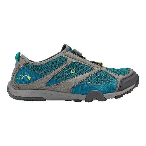 Womens OluKai 'Eleu Trainer Running Shoe - Sea Green/Charcoal 8.5
