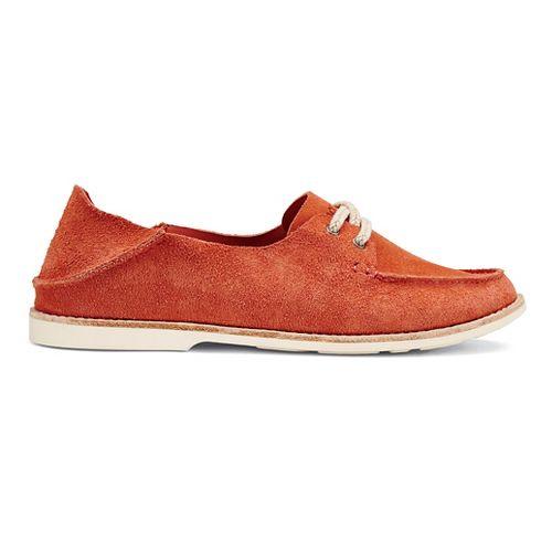 Womens OluKai Moku Casual Shoe - Coral 7.5