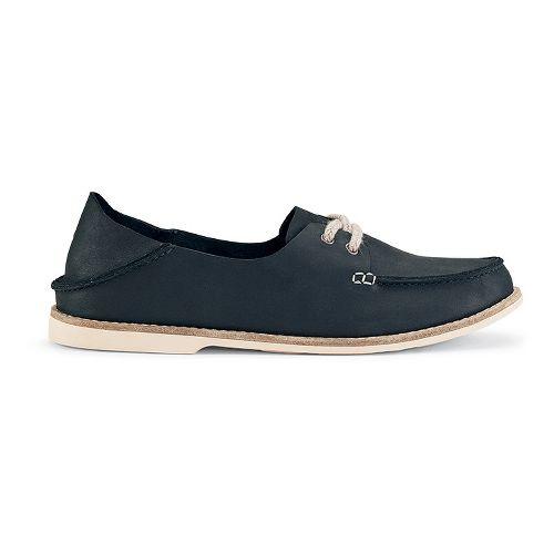 Womens OluKai Moku Leather Casual Shoe - Carbon 7