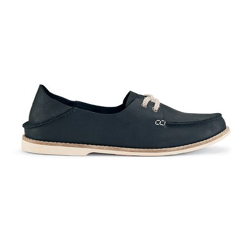 Womens OluKai Moku Leather Casual Shoe - Carbon 9