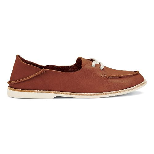 Womens OluKai Moku Leather Casual Shoe - Koa 7