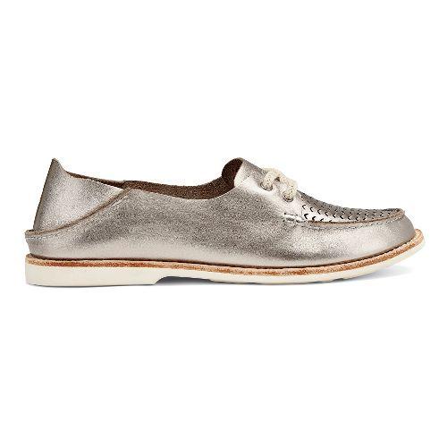 Womens OluKai Moku Perf Casual Shoe - Silver 6.5