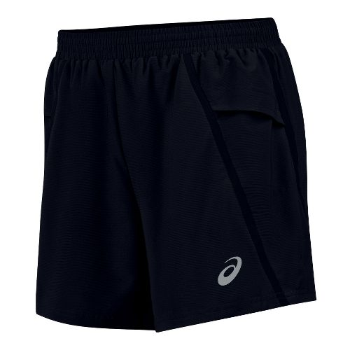 Mens ASICS Distance Short Lined Shorts - Black XXL