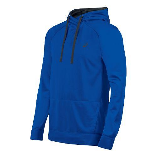Mens ASICS Everyday Tech Hoodie & Sweatshirts Technical Tops - Airforce Blue XL