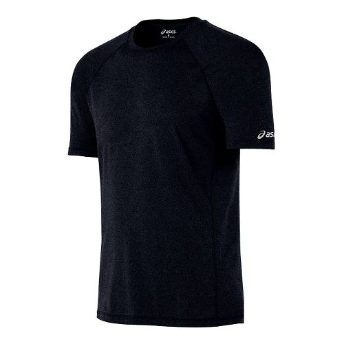 Mens ASICS Everyday Tech Tee Short Sleeve Technical Tops - Black M