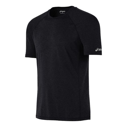 Mens ASICS Everyday Tech Tee Short Sleeve Technical Tops - Black Heather L