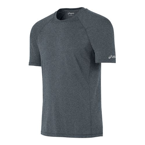 Mens ASICS Everyday Tech Tee Short Sleeve Technical Tops - Grey Heather L