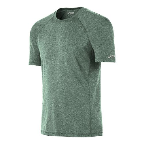 Mens ASICS Everyday Tech Tee Short Sleeve Technical Tops - Green Heather L