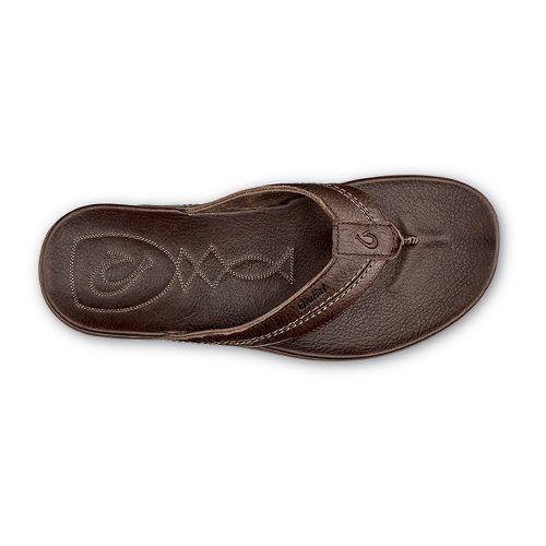 Mens OluKai Mohalu Sandals Shoe - Dark Wood/Dark Wood 14