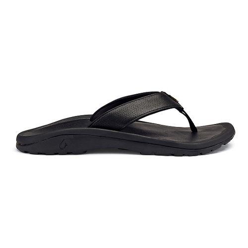 Mens OluKai Kupuna Sandals Shoe - Black 17