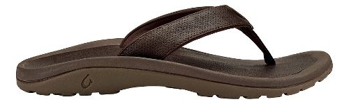 Mens OluKai Kupuna Sandals Shoe - Dark Wood/Dark Wood 7
