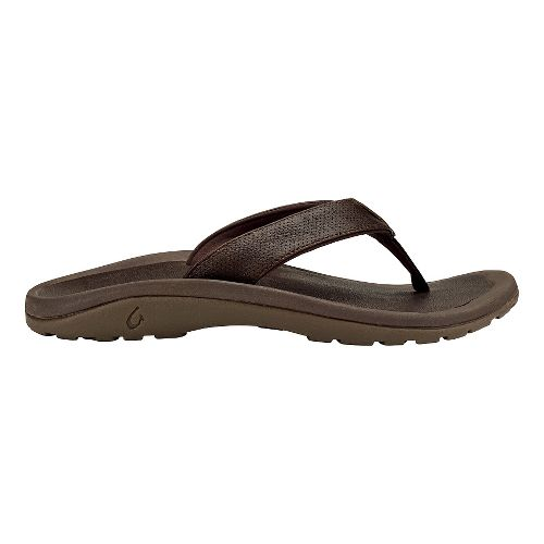 Mens OluKai Kupuna Sandals Shoe - Dark Wood/Dark Wood 14