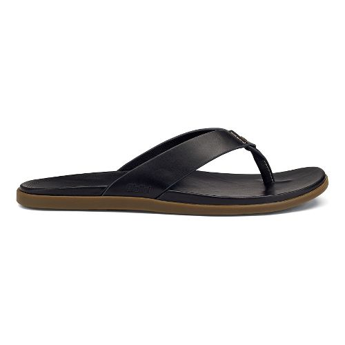 Mens OluKai Kapua Sandals Shoe - Black 12