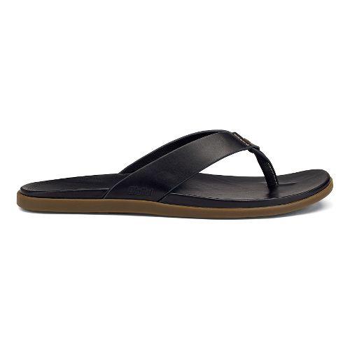 Mens OluKai Kapua Sandals Shoe - Black 7