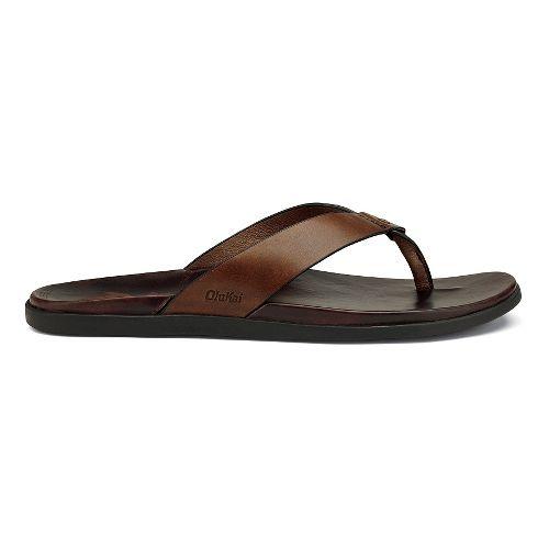 Mens OluKai Kapua Sandals Shoe - Toffee/Dark Java 9