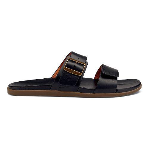 Mens OluKai Kapua Slide Sandals Shoe - Black 15