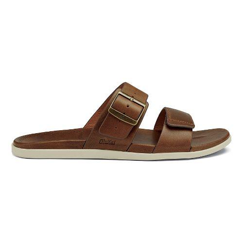 Mens OluKai Kapua Slide Sandals Shoe - Toffee 10