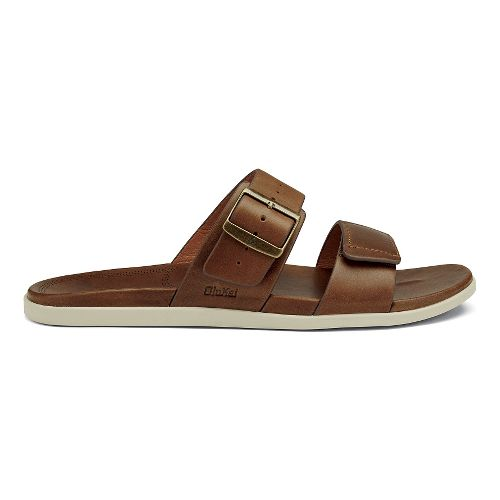 Mens OluKai Kapua Slide Sandals Shoe - Toffee 14