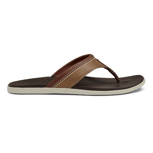 Mens OluKai Polena Sandals Shoe - Tan/Dark Java 14