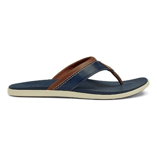 Mens OluKai Polena Sandals Shoe - Trench Blue 10