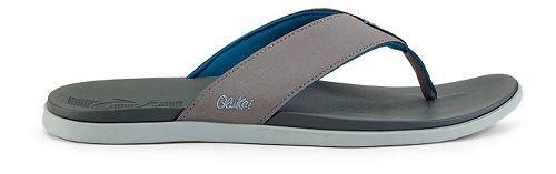 Mens OluKai Holona Sandals Shoe - Fog/Charcoal 11