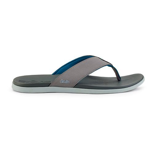 Mens OluKai Holona Sandals Shoe - Fog/Charcoal 9