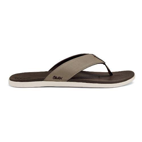 Mens OluKai Holona Sandals Shoe - Clay/Dark Java 7