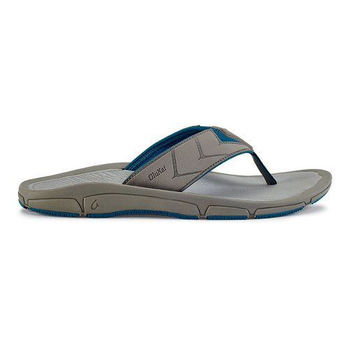 Mens OluKai Kaku Sandals Shoe - Fog/Light Grey 11