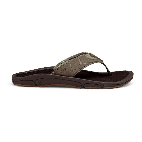 Mens OluKai Kaku Sandals Shoe - Mustang/Dark Java 9