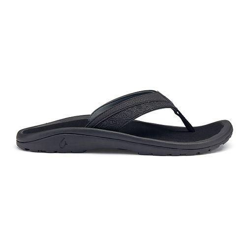 Mens OluKai 'Ohana Koa Sandals Shoe - Black 15
