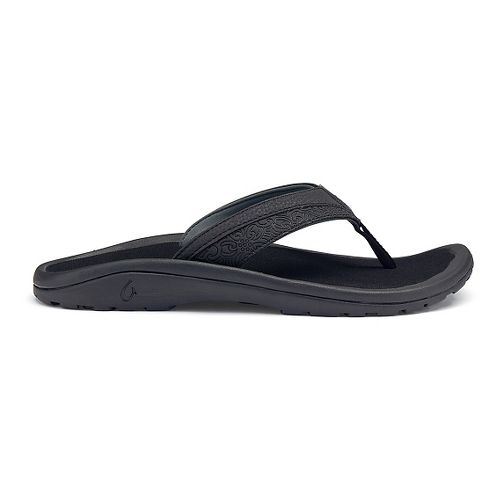 Mens OluKai 'Ohana Koa Sandals Shoe - Black 18
