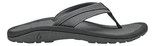 Mens OluKai 'Ohana Koa Sandals Shoe - Charcoal/Charcoal 10