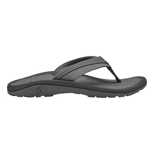 Mens OluKai 'Ohana Koa Sandals Shoe - Charcoal/Charcoal 9