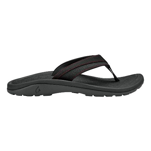 Mens OluKai 'Ohana Koa Sandals Shoe - Carbon/Carbon 12