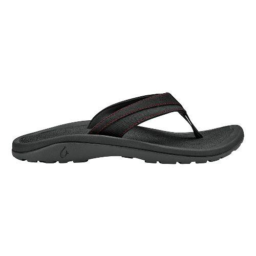 Mens OluKai 'Ohana Koa Sandals Shoe - Carbon/Carbon 7