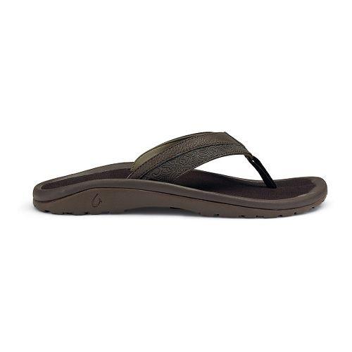 Mens OluKai 'Ohana Koa Sandals Shoe - Dark Java 7