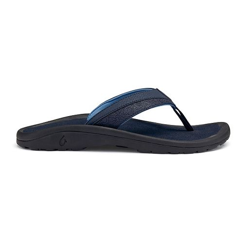 Mens OluKai 'Ohana Koa Sandals Shoe - Trench Blue 18